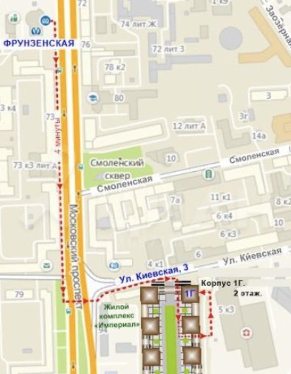 Схема проезда Киевская ул., 3